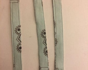 Set of 3 mint pacifier clips