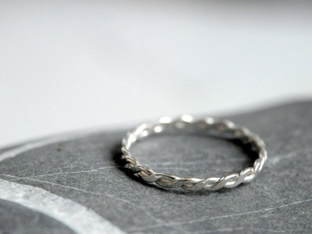 Ben noto Anello intrecciato argento 925 Fatto a mano VU75