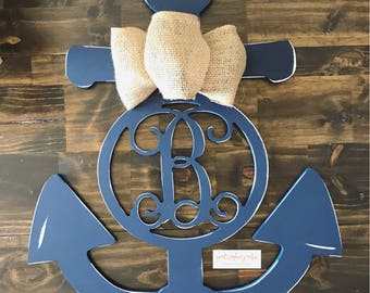 Monogram Anchor Door Hanger