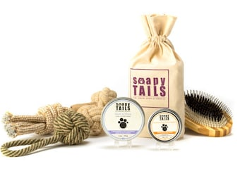 Soapy Tails Groom & Go Dog Gift Set