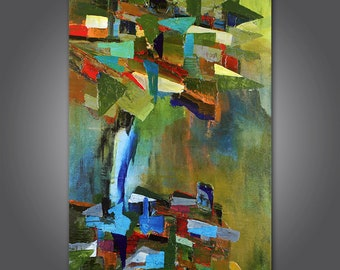 The Stand Original abstract acrylic painting