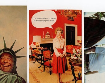 Lot of 3 Reagan Postcards | Used and Unused | Nancy and Ronald | Paper Ephemera | Scrapbooking, Altered Art, Collage