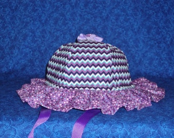 Purple Chevron Baby Sun Hat Cute