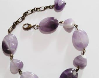 Purple Amethyst Gemstone Bracelet