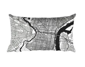 Philadelphia Pillow, Philadelphia Decor, Philadelphia Throw Pillow, Philadelphia Gift, Philadelphia Map, Philadelphia Art, Philadelphia PA