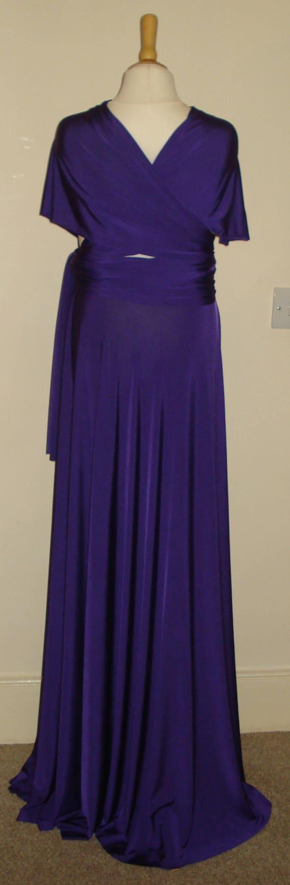 Purple Junior Infinity Dress Flower Girl Dress Teen Bridesmaid