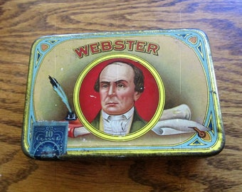 Nice Webster Cigar Tobacco Tin