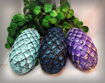 CHOOSE Your COLORS Handmade Game Of Thrones Inspired, fantasy, Dragon Eggs With Chest, Mother of Dragons, gift, GOT, Home Decor