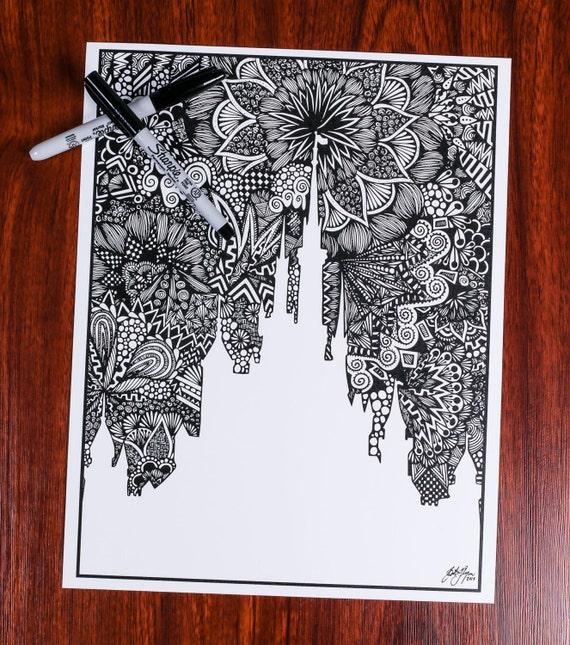Zentangle - The Castle