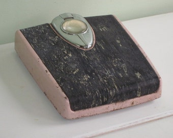 Vintage Pink and Black Detecto Bathroom Scale