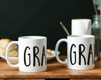 Grandparents Mugs, New Grandparents Gift, Mug, Grandma Mug, New GrandParents Gift, Grandma Gift, Pregnancy Announcement, Grandma and Grandpa