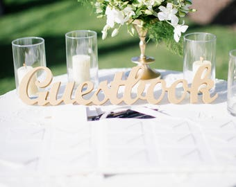 Guest Book Sign For Wedding Freestanding Guestbook - Book table for dinner