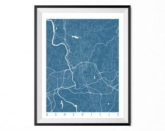 Asheville map Etsy