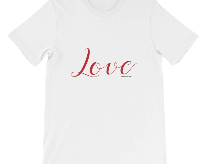 "Bella + Canvas Short-Sleeve Unisex T-Shirt ""Love"""