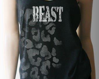Beast Workout Tank. Workout Shirt. Workout Clothes. Exercise Clothing. Weight Lifting Shirt. FitnessTank.