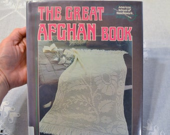 The Great Afghan Book Instructional DIY American School of Needlework Vintage Book PanchosPorch