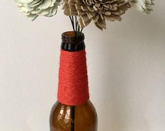 Beer Bottle Bouquet Pinkish Almond Flower