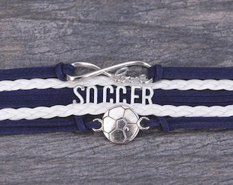 Soccer Gift -Soccer Bracelet – Soccer Team Gift - Soccer - Perfect for Soccer Players, Soccer Coaches & Team Gifts