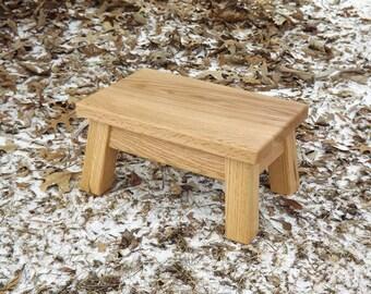 """Bois de récupération / ferme bois riser Solid oak / étape tabouret / teint / 8""""- 10"""" H"""