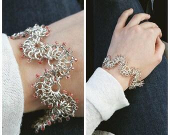 Lace Chain Maille Bracelet