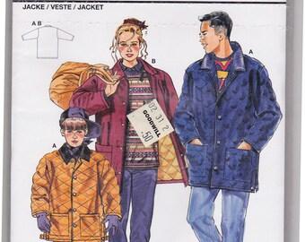 FF Burda 4488 Children's Coat Vintage Sewing Pattern, Junior Kids Button Down Coat, Big Pockets, Size 8-10-12-14-16, UNCUT