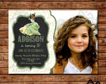 Tiana Birthday Invitation, Tiana Birthday, Disney Princess Invitation, Princess Birthday Invitation, Tiana, The Princess and the Frog