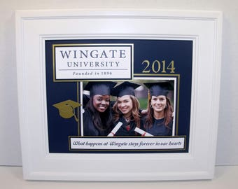 Graduation Picture Mat - Personalized Any Colors Any Message - UNFRAMED insert for 8x10 Frame holds 4x6 photo