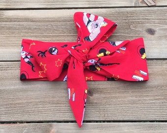 Incredibles Headwrap- Head Wrap; Headwrap; Incredibles Headband; Incredibles Bow; Incredibles; Baby Headband; Toddler Headband; Baby Bows