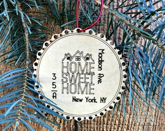 Our First House Ornament First House Christmas Ornament New House Gift New Apartment Ornament Housewarming Gift Modern Christmas Ornament