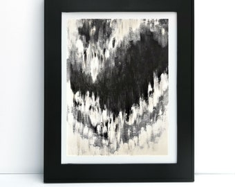 8x10 black and white modern abstract contemporary wall art print