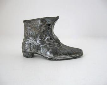 Antique Jennings Brothers JB Cast Metal Victorian Boot
