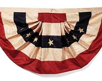 "Darice Patriotic Decor - American Flag Bunting (Large) 48"" x 23"""