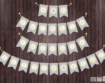 "Printable ""Twinkle Twinkle Little Star"" Baby Shower Banner"