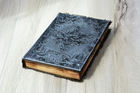 Old Book Cover Notebook : Journal a notebook grimoire book of magic mixed media