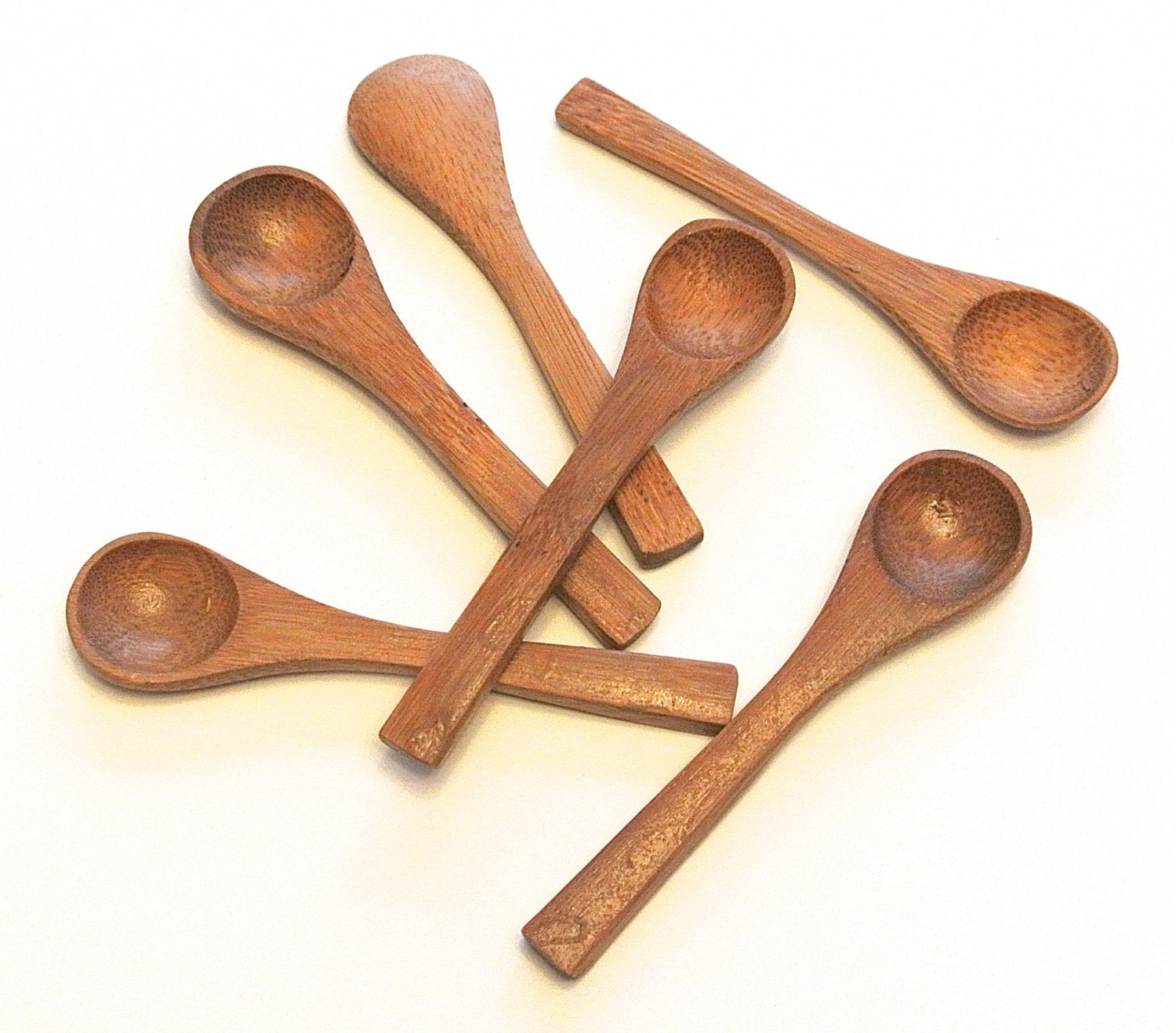 Wooden Spoon Makers ~ Mini bamboo wood spoons wooden demitasse