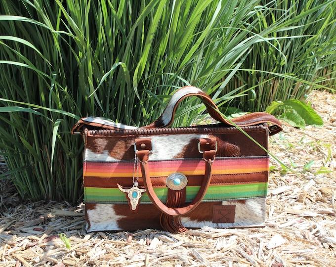 Cowhide Serape Business Bag