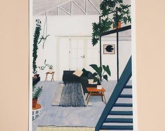 Studio Hear Hear illustration houseplant high quality giclée print