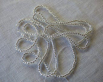 1 strand seed bead 11/0 silver ref collar 78102