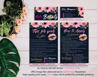 Lipsense Business Card, LipSense Tips and Tricks, Lipsense How To Apply, Senegence Application, Tips Cards, Free Personalized LSS03