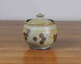 Ceramic Sugar Bowl / Lidded Container