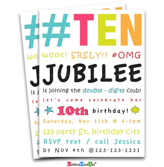 10th birthday invitations romeondinez 10th birthday invitations filmwisefo