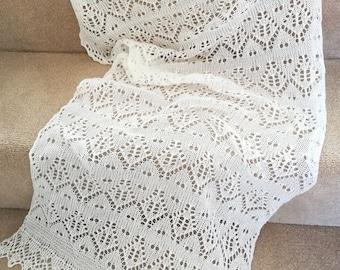 Wedding shawl/ wedding wrap/ wedding stole/ white lace shawl