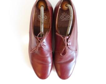 FOX in pelle vintage classico derby scarpe Taglie US 10