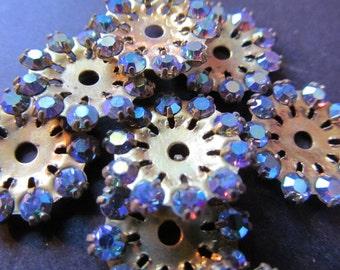 Vintage Swarovski Brass & Crystal Findings Elements (choose your colour) (8)
