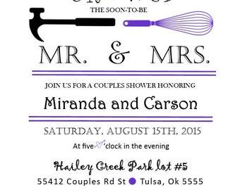 COUPLES WEDDING SHOWER Invitation Mrs.& Mr.