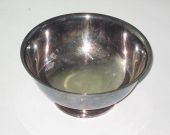 Tarnished Gorham Silver Plate Footed Bowl