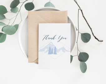 Mountain Thank You Card