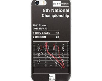 Ohio State Football iPhone Case: 8th National Championship (2015)