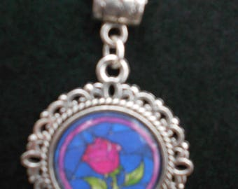 Disney's Beauty and the Beast Rose Necklace