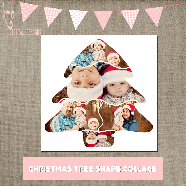 Christmas Tree Collage Vorlage 20 x 20 Platz CS & Elemente
